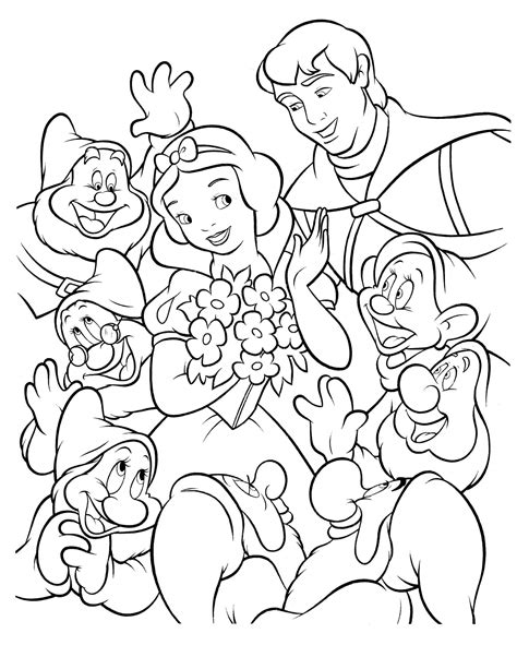 snow white coloring pages pdf snow white 16 coloringcolor com