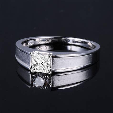 solitaire mens diamond ring princess cut diamond mans 33 carat princess cut diamond men s diamond wedding band