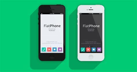 iphone  psd flat design mockup psd mock  templates pixeden
