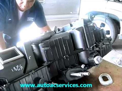 chevrolet tahoe a/c evaporator removal youtube