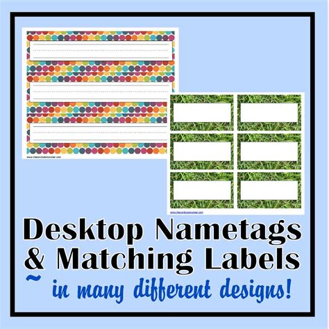 printable name tags for classroom desks desk nametags classroom labels the curriculum corner 123