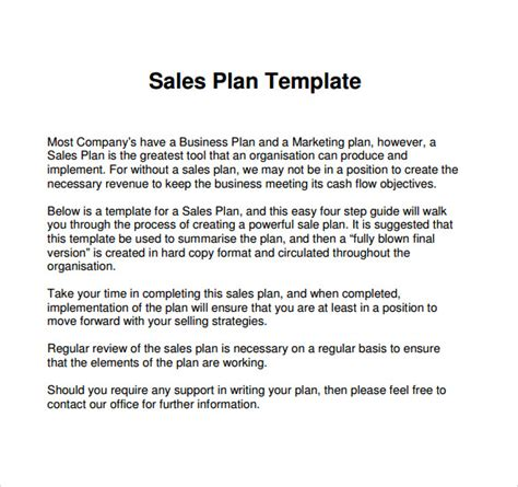 sle business plans templates sle sales plan template 24 free documents in pdf