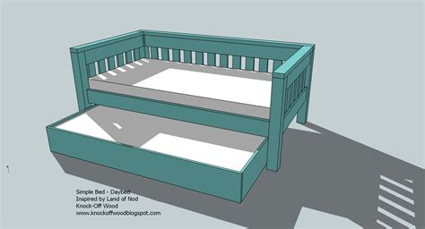 Wood Build A Daybed Pdf Plans | woodworking plans trundle bed woodworking plans pdf plans