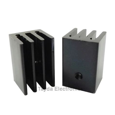Heatsink Heat Sink Black Metal To Thermal Contact Cooling Electronic 2 Heat Sink To 220 4 Fins 25mm Aluminium Black