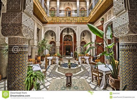 Interior Columns For Homes decorated typical interior of a moroccan building images