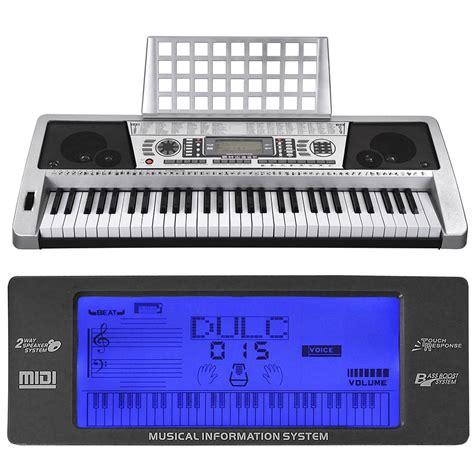 ebay keyboard silver 61 key lcd display electronic keyboard digital