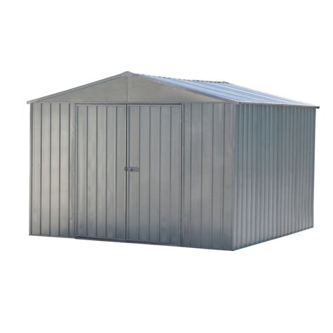 qiq fix 3 0 x 3 0 x 1 9m zinc garden shed bunnings warehouse