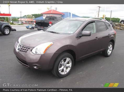 iridium graphite 2009 nissan rogue sl awd gray