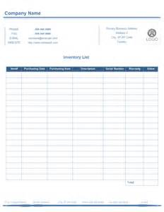 inventory list form free inventory list form templates