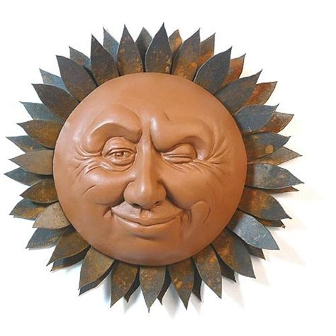 sun sculpture gorgeous metal sun plaques and sun faces for your wall