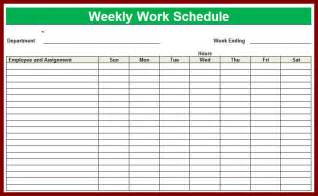 work week calendar template weekly employees images