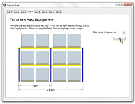 warehouse racking layout software number of pallet rack bays unarco pallet rack and