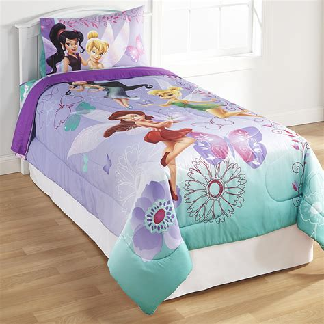 Disney Fairies Twin Full Comforter Tinkerbell Bedding Set