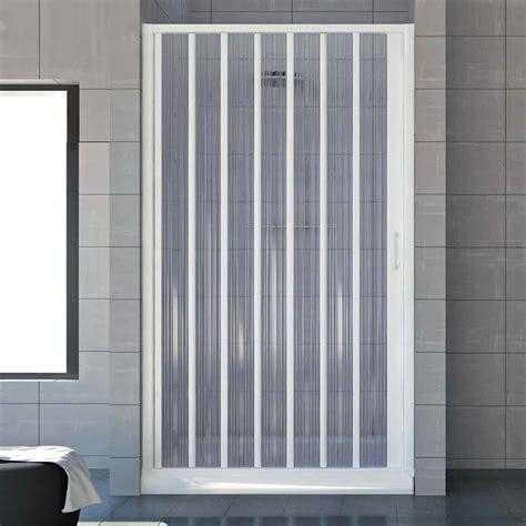 box doccia policarbonato porta doccia a soffietto per nicchie da 120 a 130 cm in