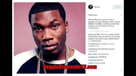 Drake S Face Plastered On - 50 cent disses meek mill on instagram responds to meek