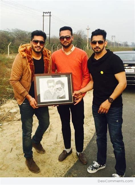 prabh gill with his wife jassi gill with babbal rai desicomments com