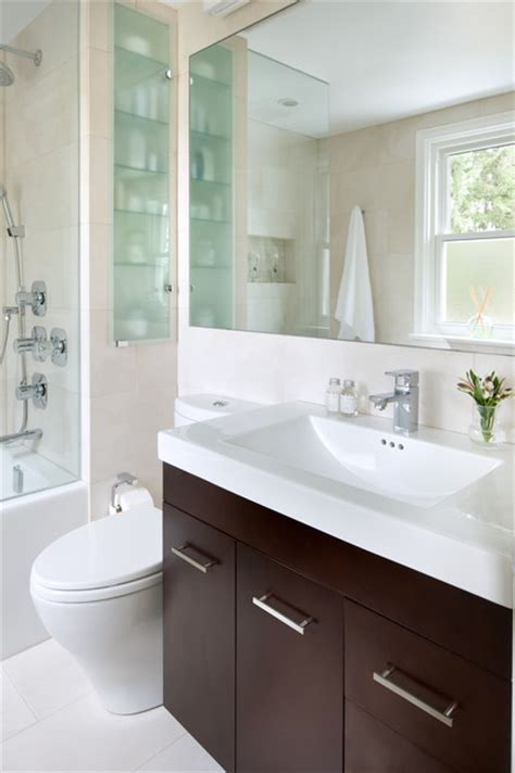 Small Space Bathroom Ideas Small Space Bathroom Contemporary Bathroom Other Metro By Toronto Interior Design