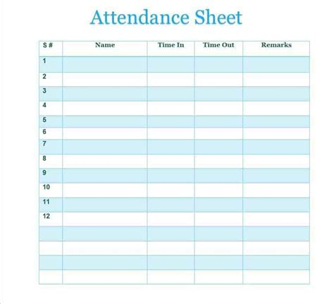 school attendance sheet template employee sign in sheet uploaded by nasha razita free