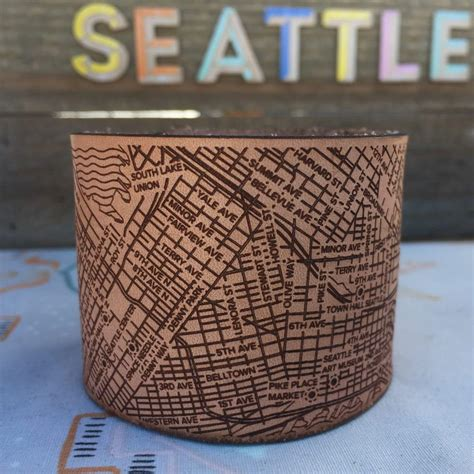 Seattle Handmade - seattle city bracelets handmade leather designhype