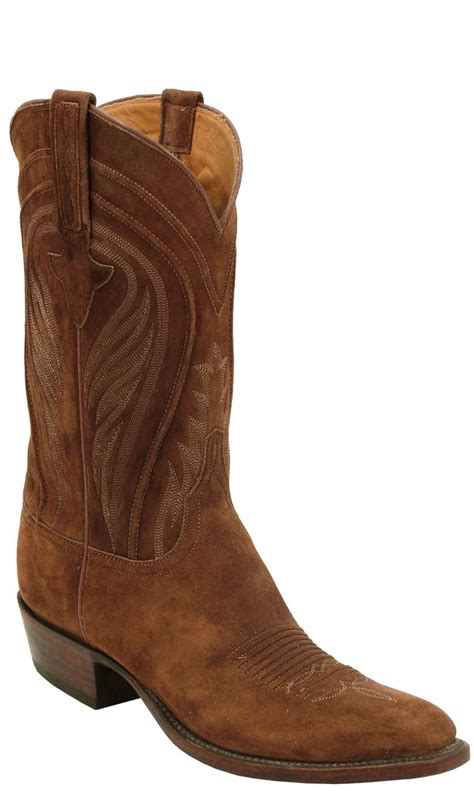 mens suede cowboy boots lucchese classics l1574 mens rust suede cowboy boots