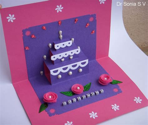 how to make a cake pop up card cards crafts projects simple pop up cake card tutorial