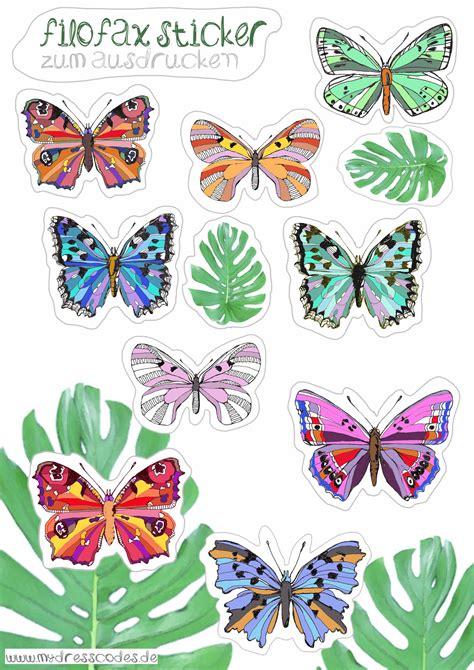Sticker Zum Ausdrucken Kostenlos by Butterflies Sticker Planner Filofax Terminkalender Zum