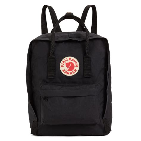 Black Backpack kanken backpack in black burgundy