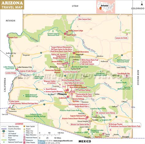 arizona state in usa map maps update 800796 tourist attractions map in arizona