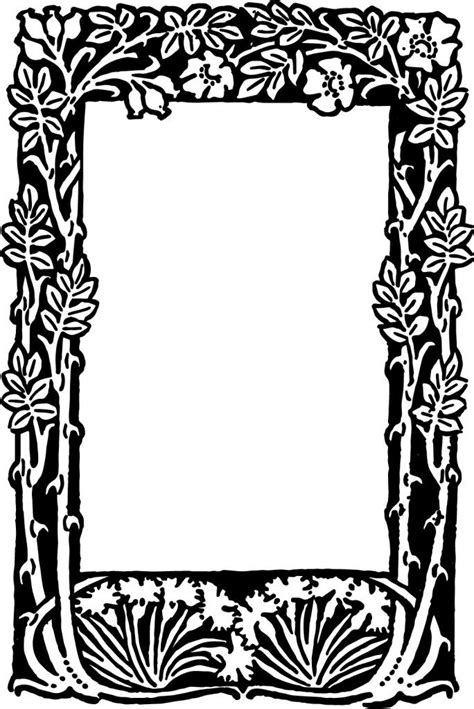 frame design mende e k free vector floral border frame oh so nifty vintage