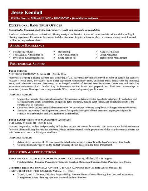 Mortgage Broker Job Description Resume by Trust Officer Resume