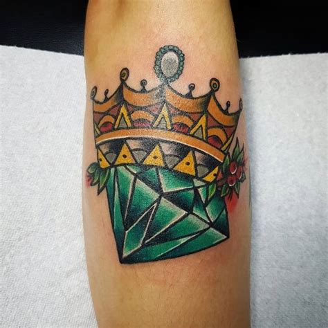 diamond tattoo neo traditional 50 crown tattoo ideas for men and women 2018