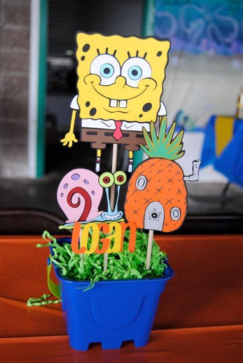 spongebob centerpiece decorations 25 best ideas about sponge bob birthday on