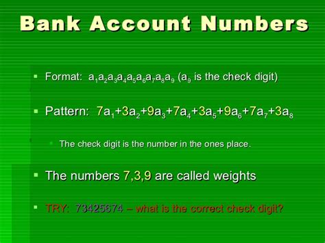 basic bank account number check digits
