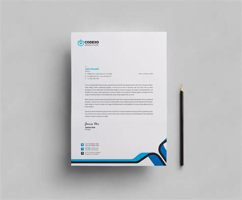 Design Template by Plain Letterhead Design Template 000407 Template Catalog