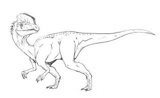 dilophosaurus coloring page dinosaurs pictures and facts