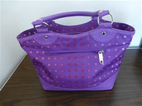 tupperware purple polka dot insulated lunch bag ebay
