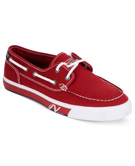 boat shoes nautica nautica shoes spinnaker canvas boat shoes men macy s