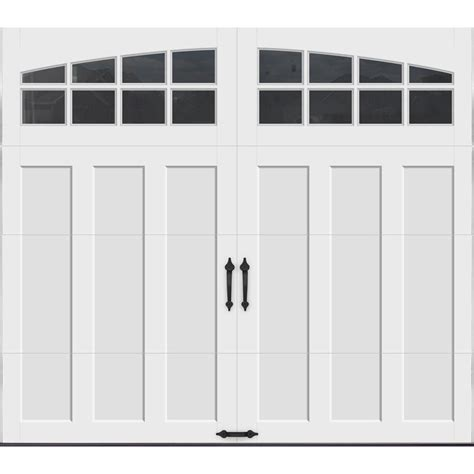 8 X 7 Garage Door Clopay Coachman Collection 8 Ft X 7 Ft 18 4 R Value Intellicore Insulated White Garage Door