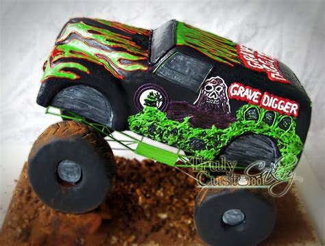 grave digger truck cake stacey s shop truly custom cakery llc grave