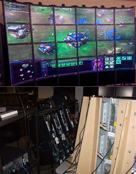 ultimate gamer setup ultimate pc gaming setup with 24 displays techeblog