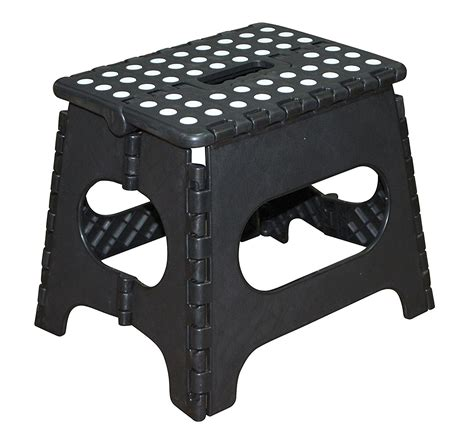 15 Inch Folding Step Stool by Jeronic 11 Inch Plastic Folding Step Stool Black