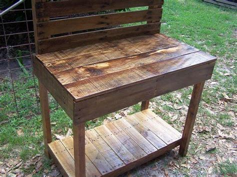 pallet garden work bench pallet garden potting bench work bench 101 pallets