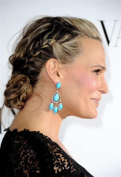 Braided Hairstyles For Older Women | molly sims braided updo for homecoming homecoming
