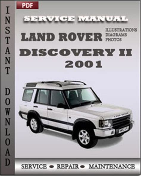 car repair manuals download 2001 land rover discovery spare parts catalogs land rover discovery 2 2001 service manual download servicerepairmanualdownload com