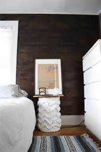 Black Shiplap Shiplap Stained Wall And Cb2 Bedside Table Merrypad