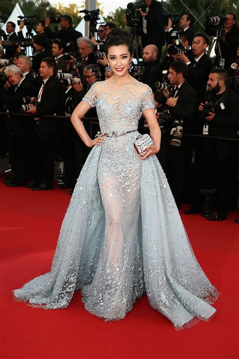 the gorgeous stars at the cannes film festival popsugar celebrity li bingbing blue embellished red carpet gown cannes 2015