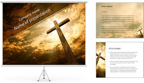 catholic cross powerpoint template backgrounds id