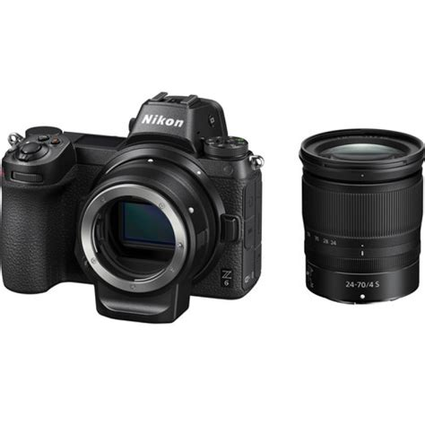 nikon z6 mirrorless digital with 24 70mm lens and ftz mount adapter kit