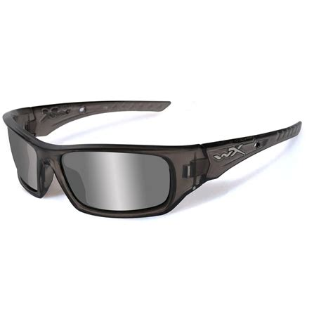 wiley x wx arrow black ops sunglasses grey silver flash