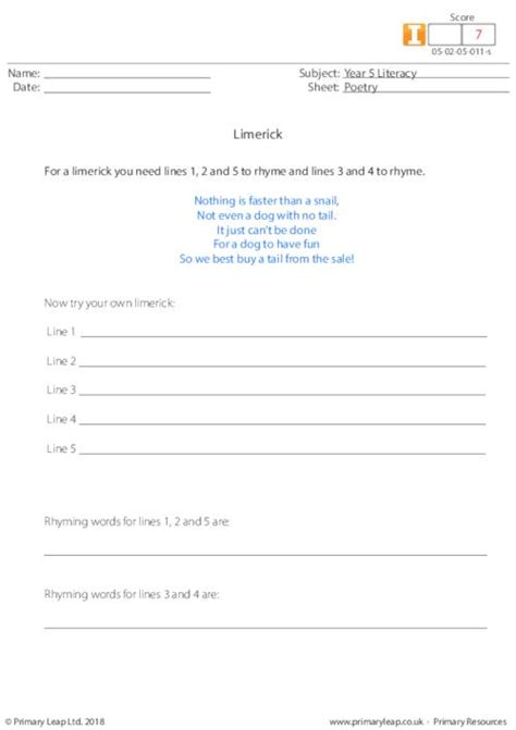 limerick template printable poetry 2 limerick primaryleap co uk